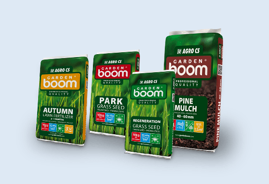 Packaging of the Garden Boom product line