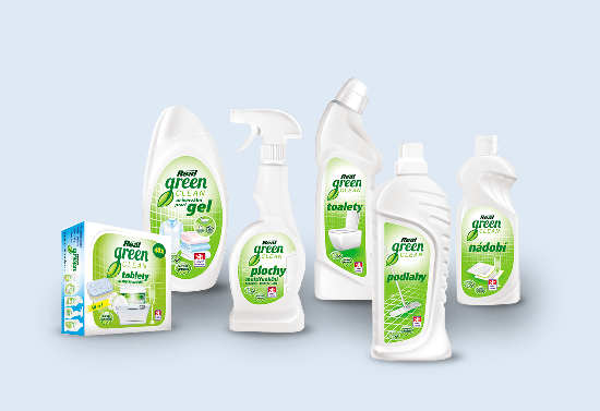 Packaging of Real Green Clean product line